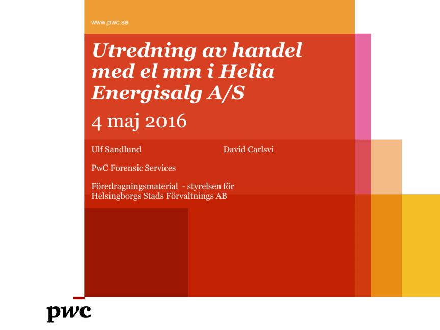 Utredning av handel med el i Helia Energisalg A/S