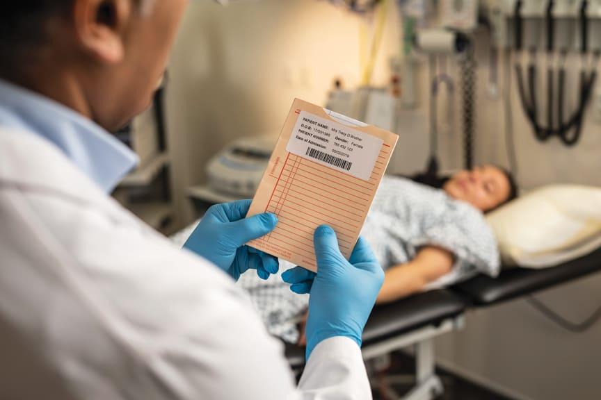 Brother TD-etikettskrivere i helsevesnetfor med direkte termisk utskrift og termo overføring.