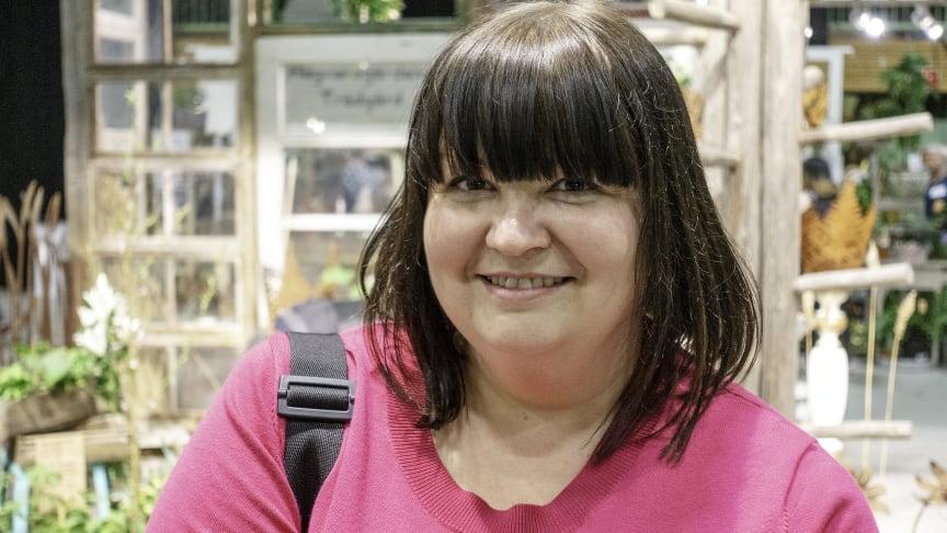 Kristine Vesterlund, Jakobstad, var en av de många finländska besökarna på årets Nolia Trädgård.