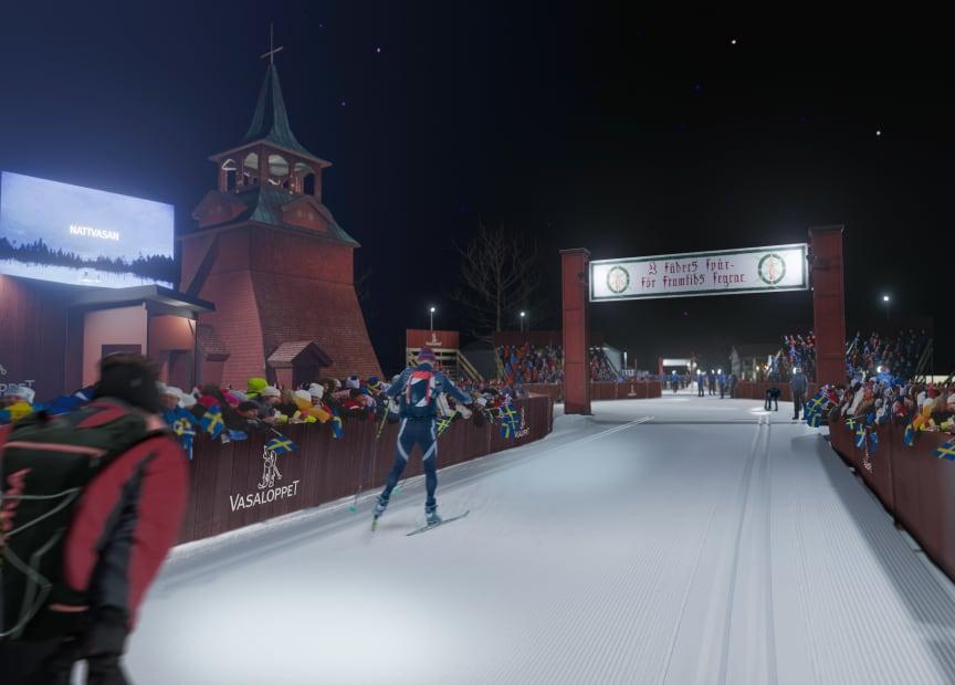 Skiss 2 Upploppet in mot Vasaloppets nya målportal