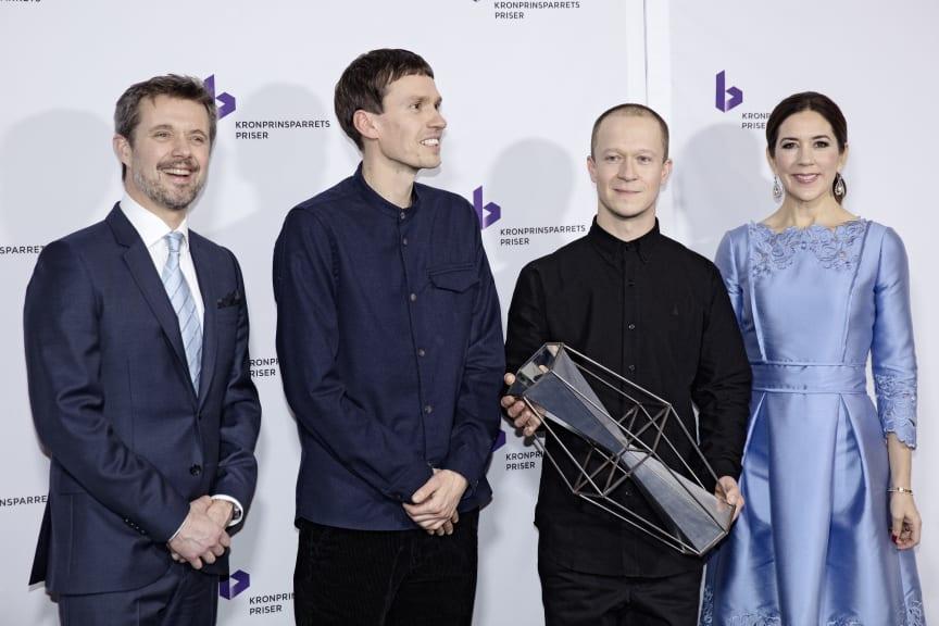 Komponist-duoen Den Sorte Skole modtager Kronprinsparrets Kulturpris 2017 for deres visionære arbejde, der udføres med stor fantasi og kreativitet. Den Sorte Skole består af Martin Højland (tv) og Simon Dokkedal (th)