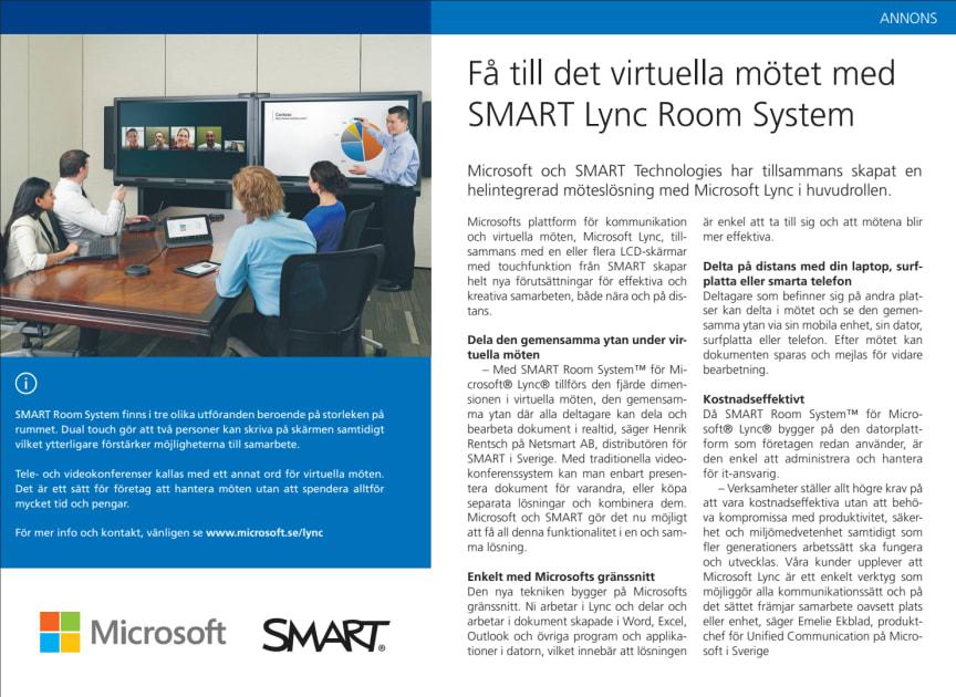 Få till det virtuella mötet med Lync och SMART Room System