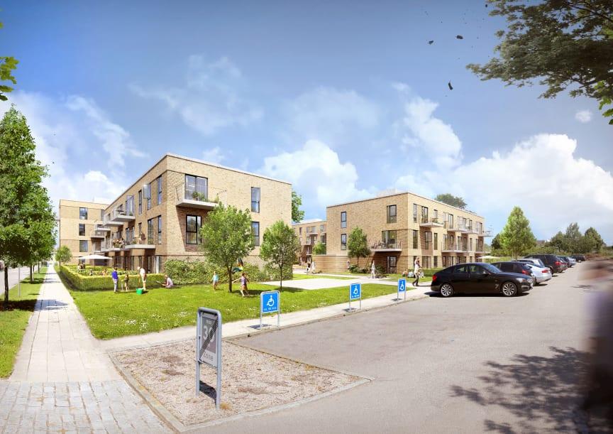 64 nye boliger på vej på Eigtveds Alle i Høje Taastrup