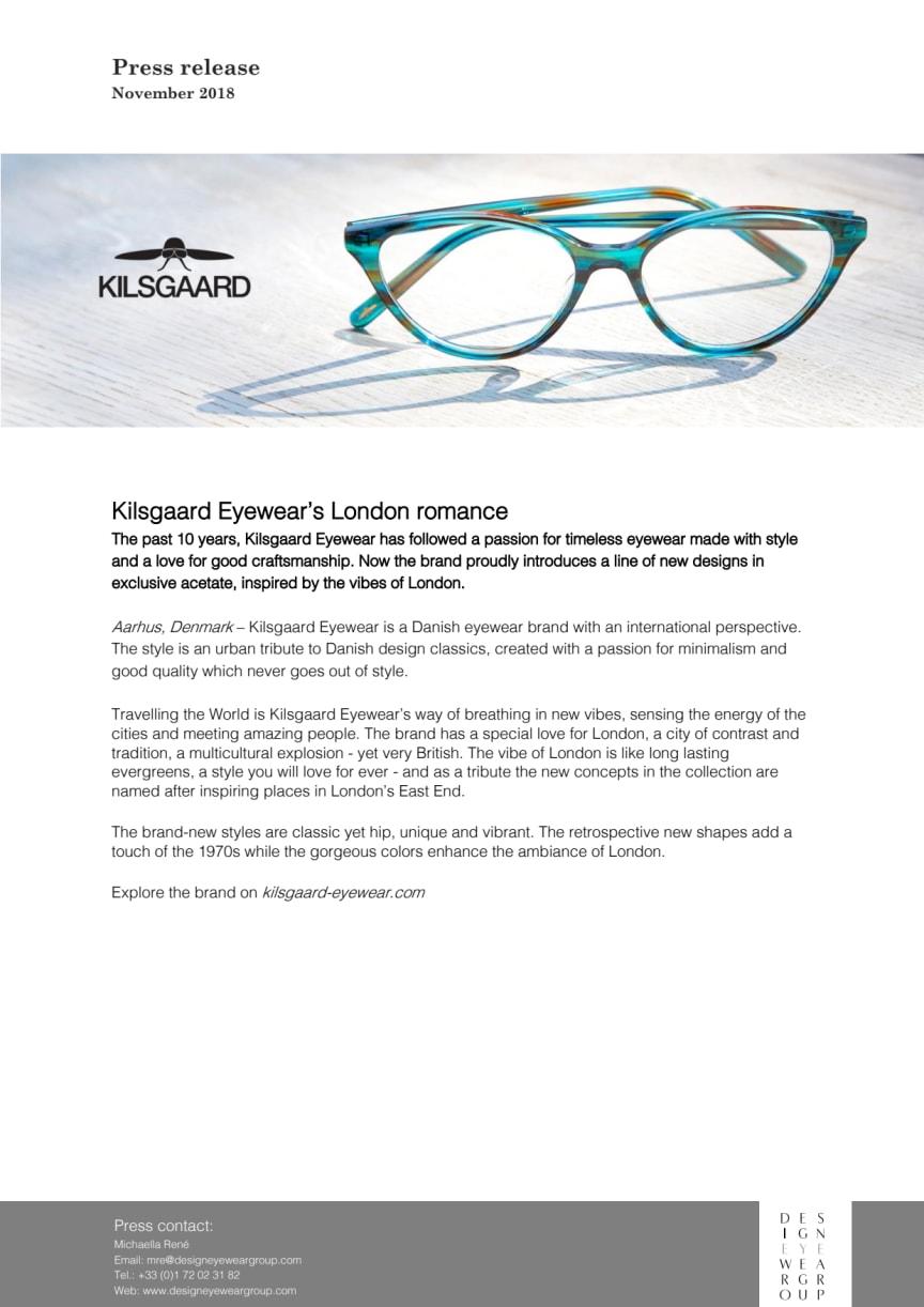 Kilsgaard eyewear's London romance