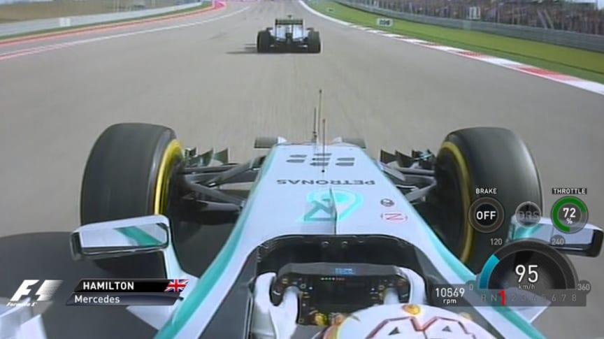 Hamilton i førersetet