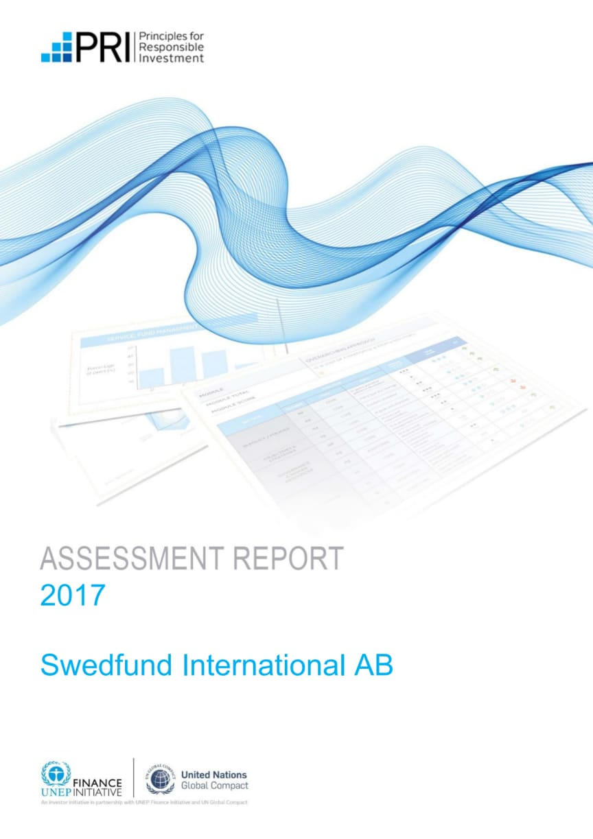 2017 Assessment Report for Swedfund International AB