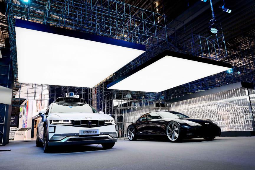 (Photo_1) Hyundai Motor's booth at IAA Mobility 2021_IONIQ brand lineup
