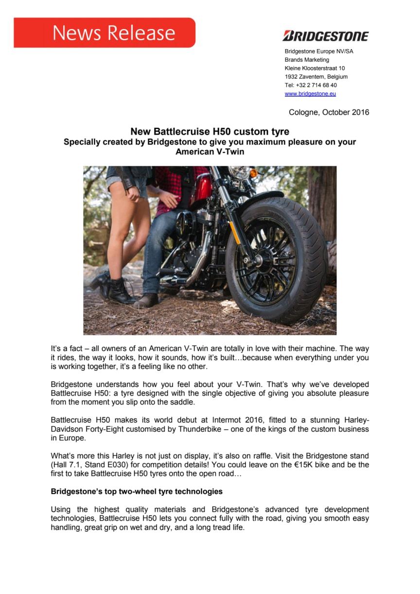 New Battlecruise H50 custom tyre