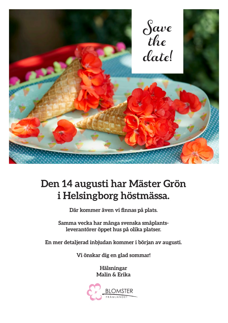 Save the date Höstmässa