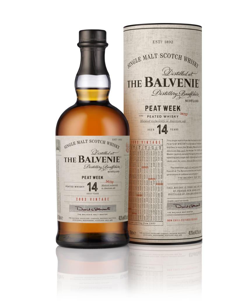 70cl The Balvenie Peat Week (2003) Bottle + Tube_RGB