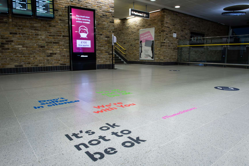 Affirmation Art appears at Blackfriars station
