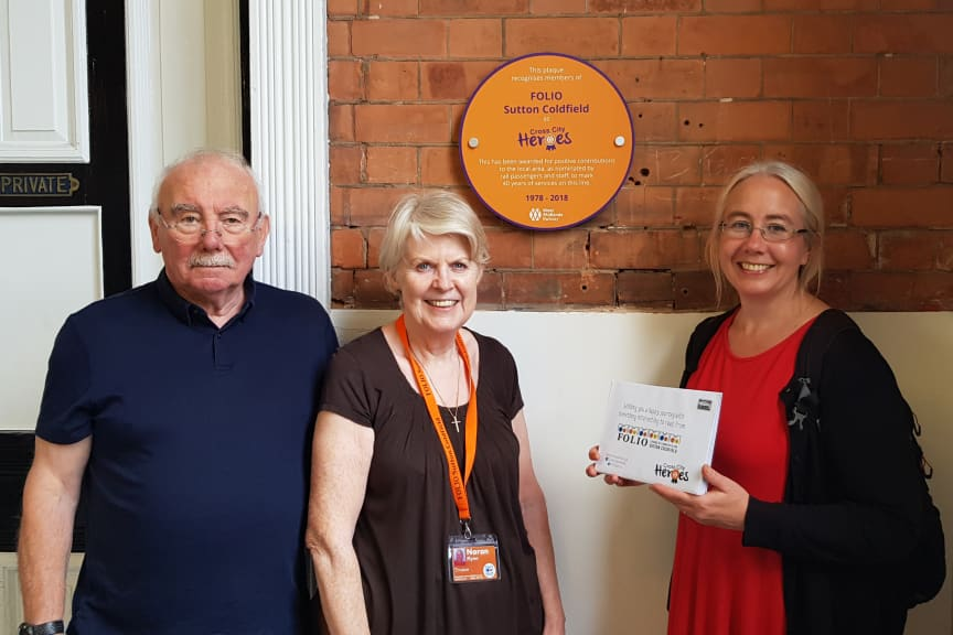 FOLIO Sutton Coldfield - Cross City Heroes plaque