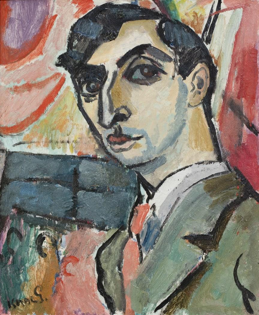 Isaac Grünewald, Självporträtt, 1917