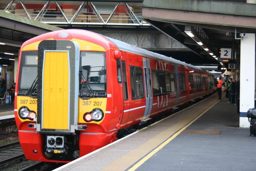 Gatwick Express new 387 2s at station