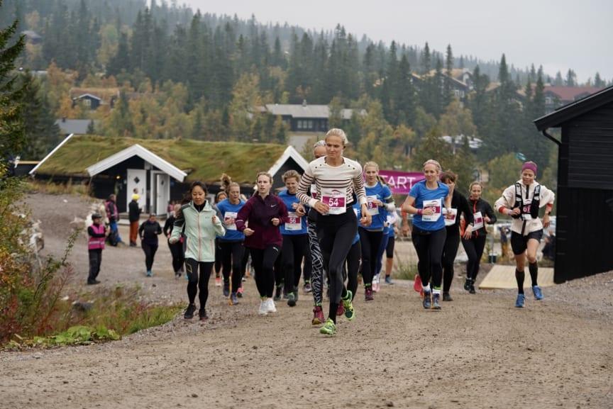Start 13 kilometer løp