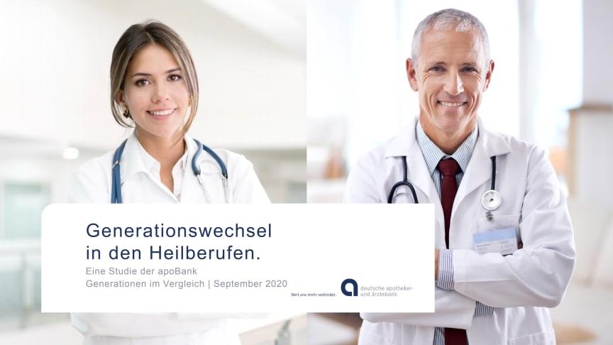 """Grafiken zu apoBank-Studie """"Generationswechsel Heilberufler"""""""