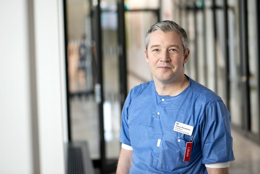 Överläkare Tobias Nordström, ansvarig för studie om nya metoder att diagnosticera prostatacancer. 2