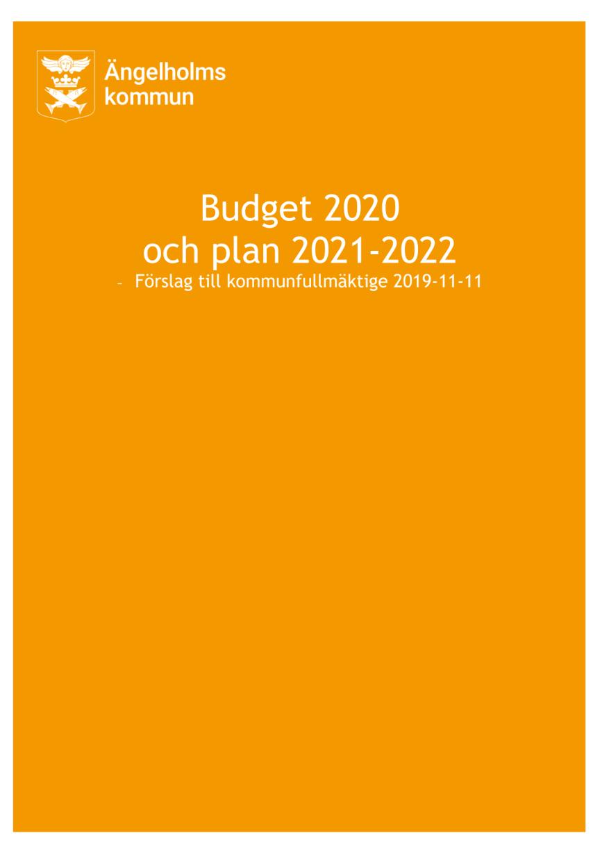 Blågröna majoritetens budgetförslag 2020 och plan 2021-2022