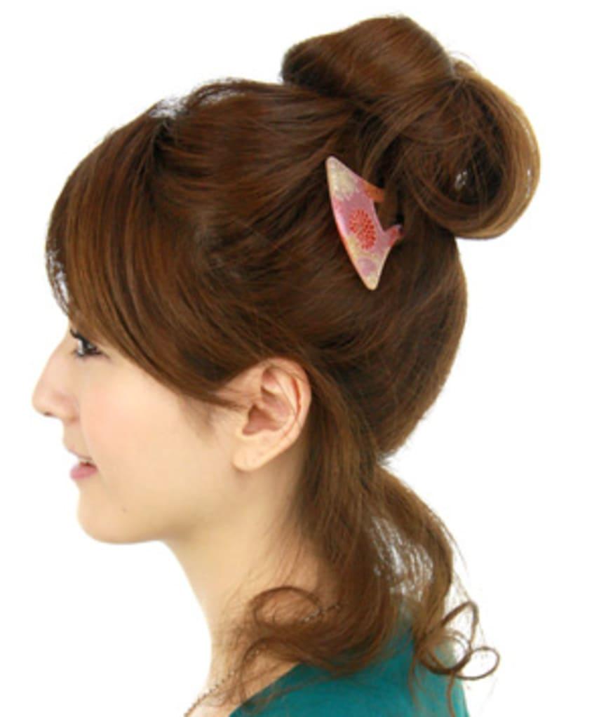 Japanese Kanzashi hair style for Kimono and Yukata:Item: Mebae