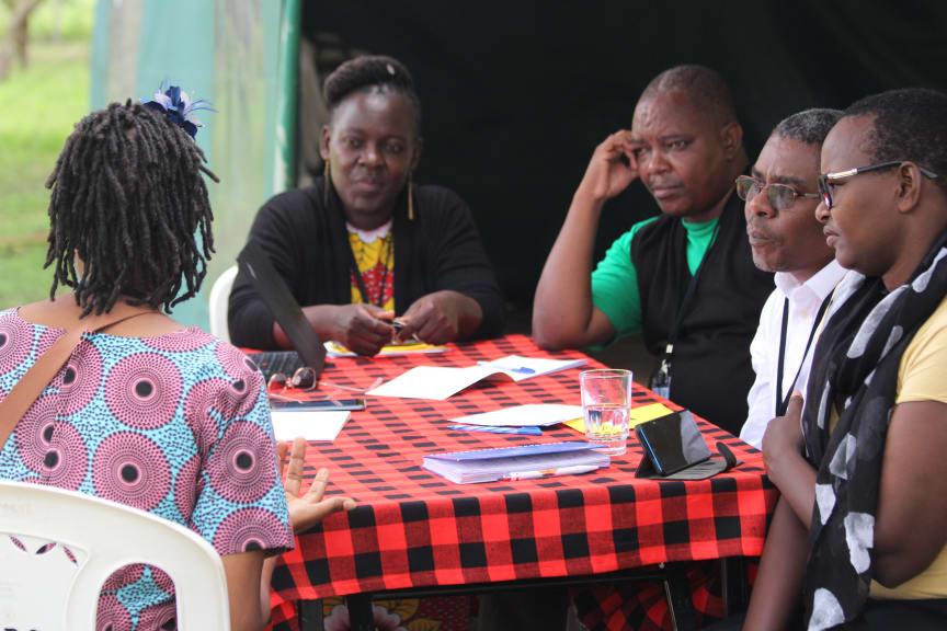 Gruppdiskussioner om resiliens i Kenya