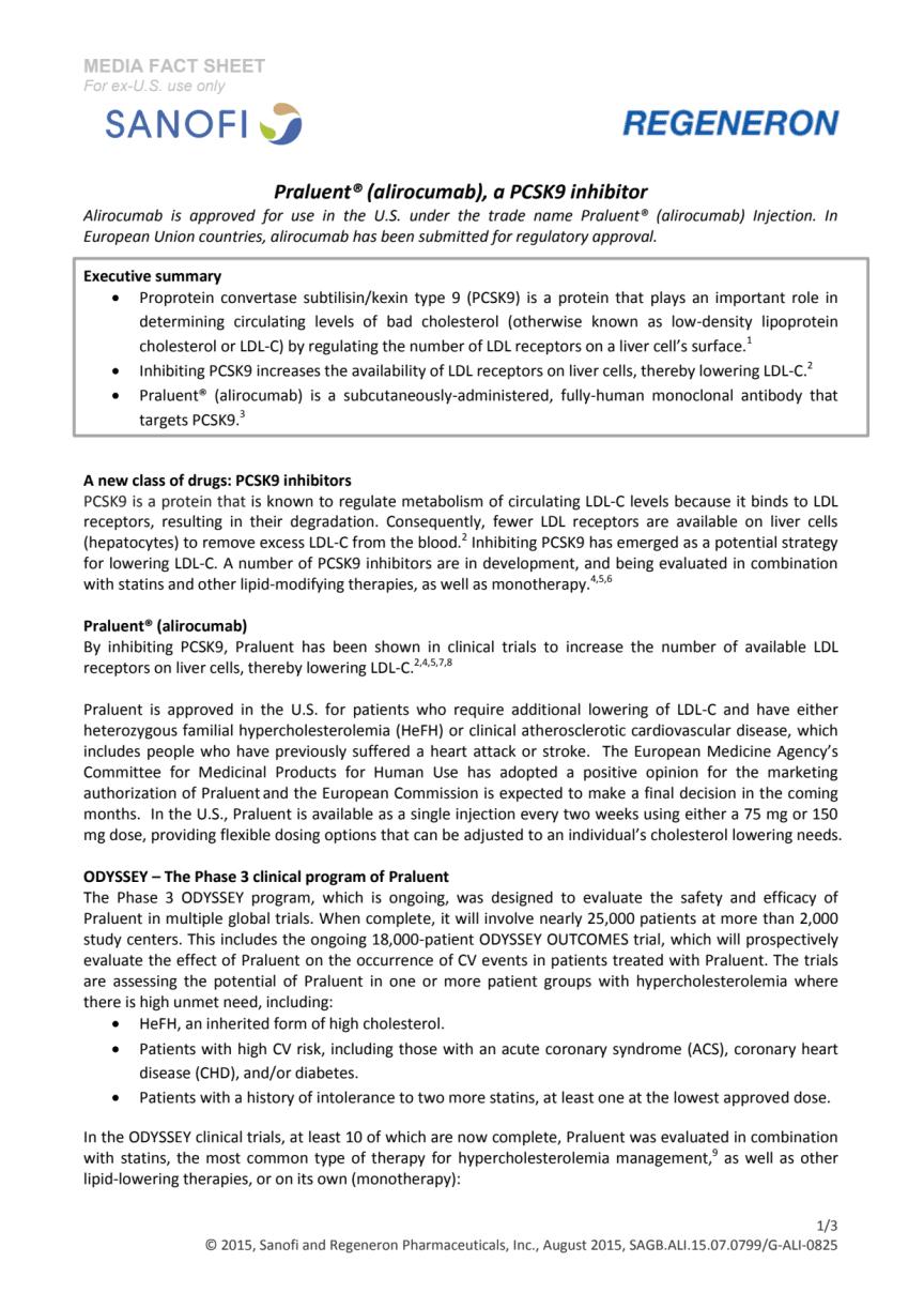 Bakgrundsinformation om PCSK9