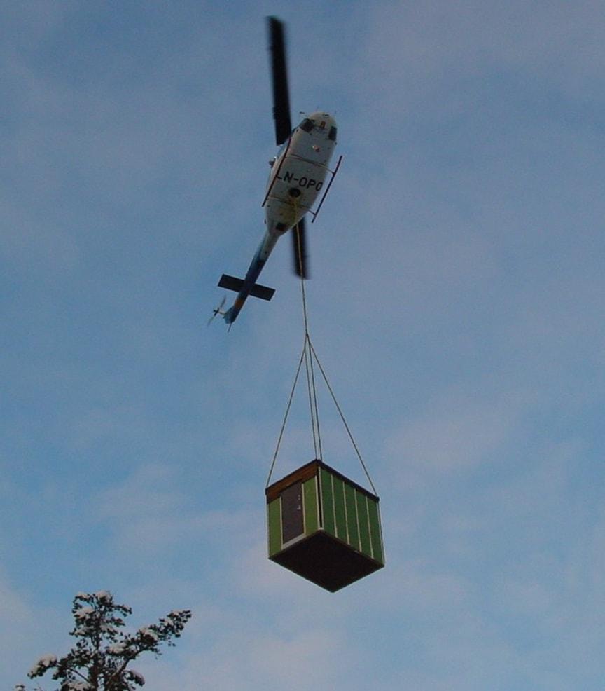 Helikopter frakter basestasjon