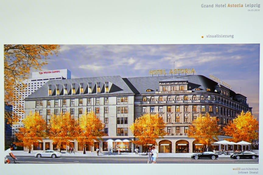 """Visualisierung des sanierten Hotel """"Astoria"""""""