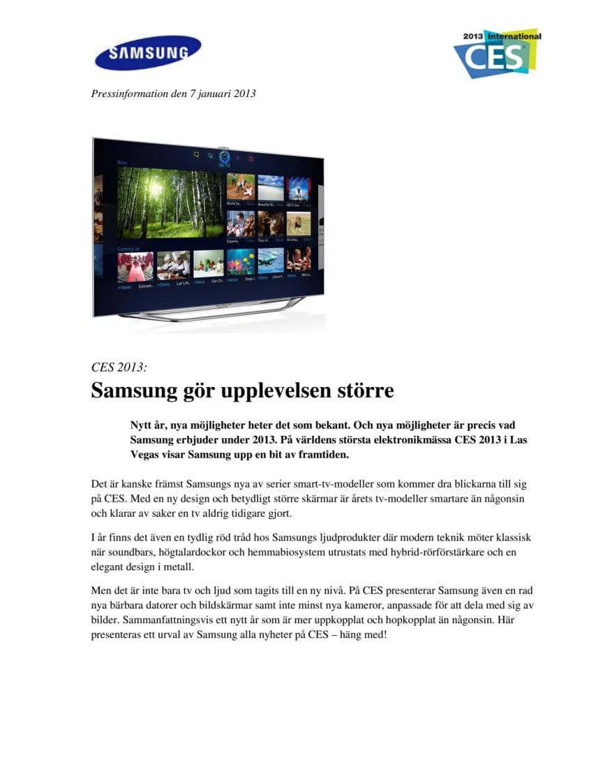 CES 2013: Samsung gör upplevelsen större