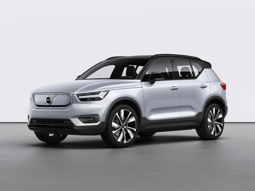 Volvo XC40 Recharge P8 AWD in Glacier Silver 1
