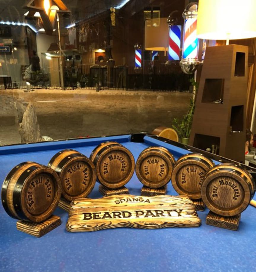 Spånga Beard Party 2018 - pokaler skäggtävling