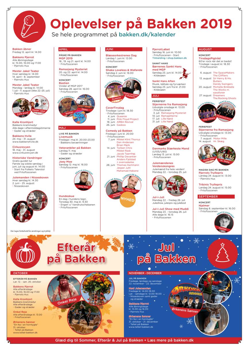 Bakkens eventkalender 2019