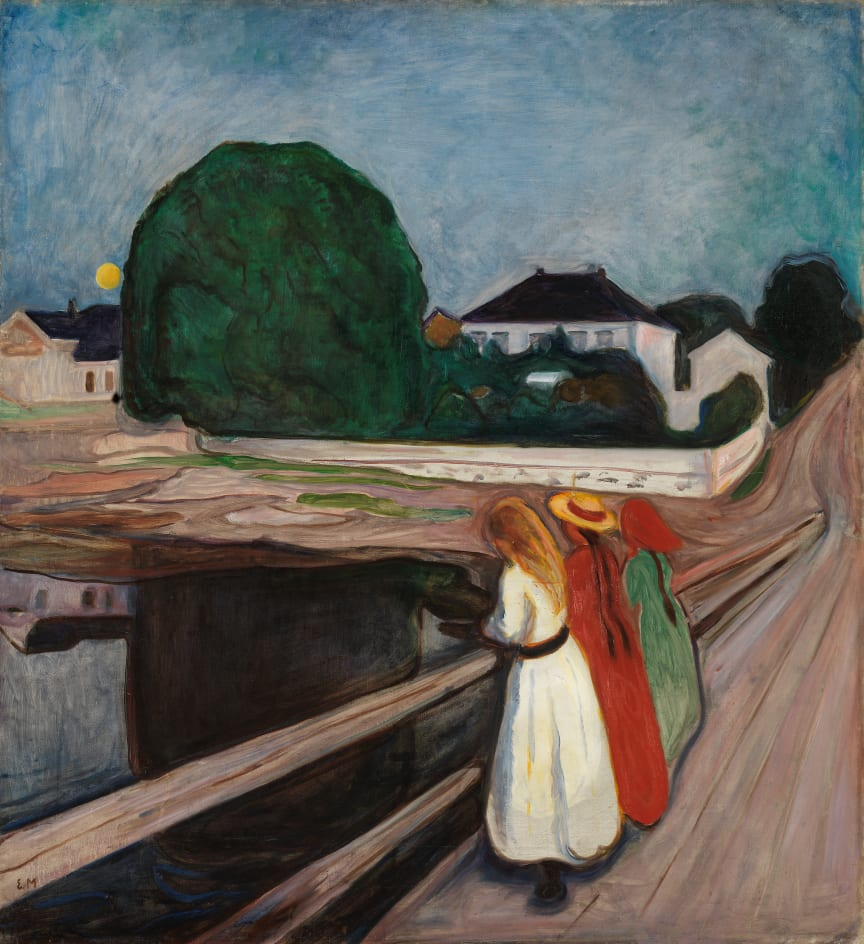 "Edvard Munch, ""The Girls on the Bridge"", Ca. 1901"