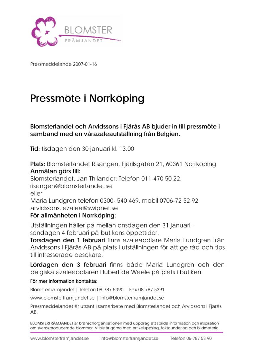 Pressmöte i Norrköping, pdf