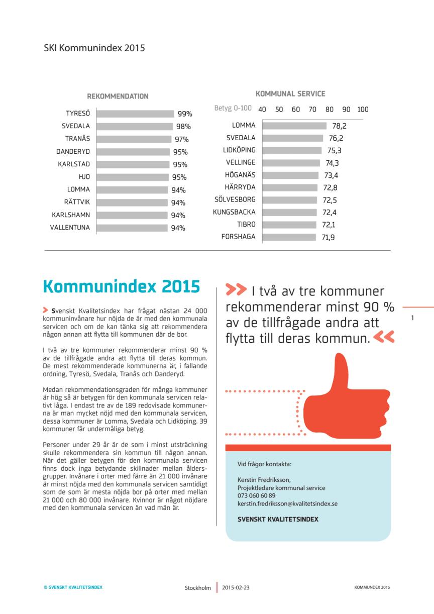 SKI Kommunindex 2015