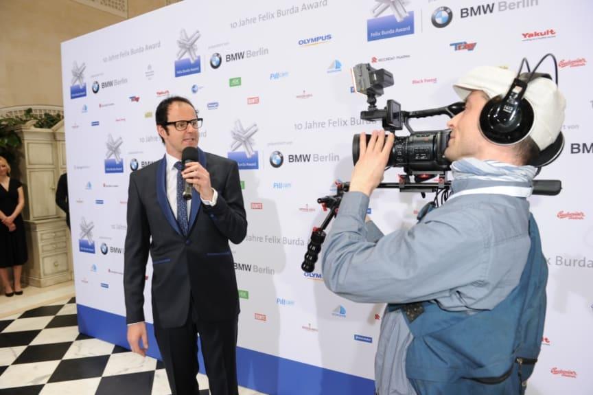 "Vince Ebert als ""Rasender Reporter"" beim Felix Burda Award 2012"