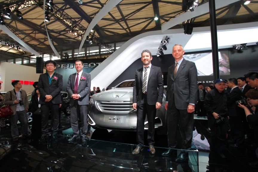 Peugeot på bilsalongen i Peking 2012