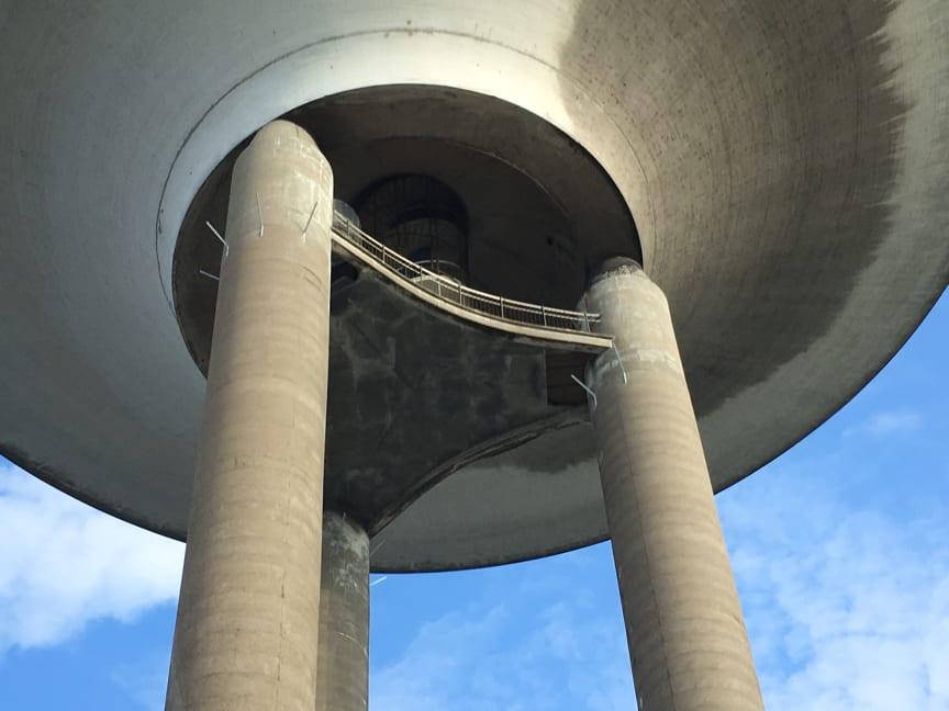 Stålstass för vattentornet