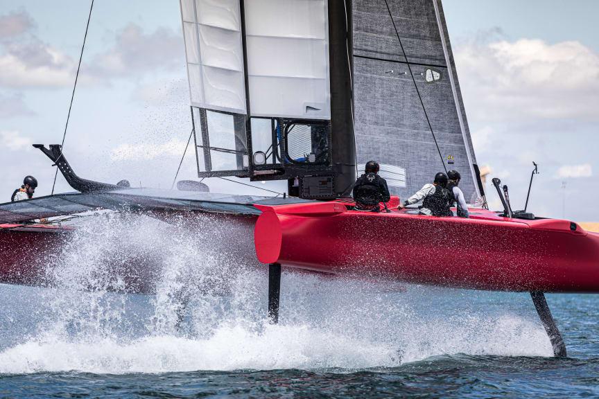 Det danske SailGP-hold i aktion