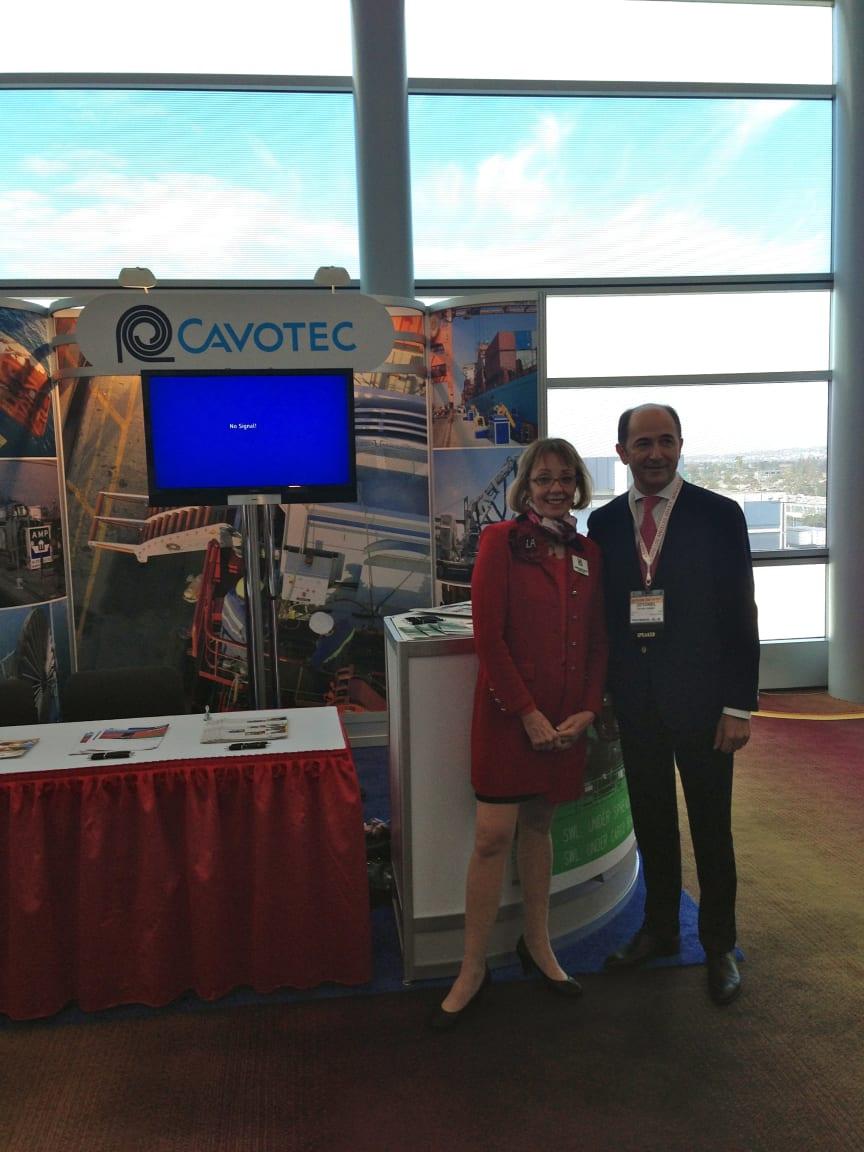 POLA Executive Director Geraldine Knatz and Cavotec CEO Ottonel Popesco at IAPH World Ports Conference