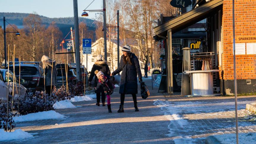 Shopping og kafé