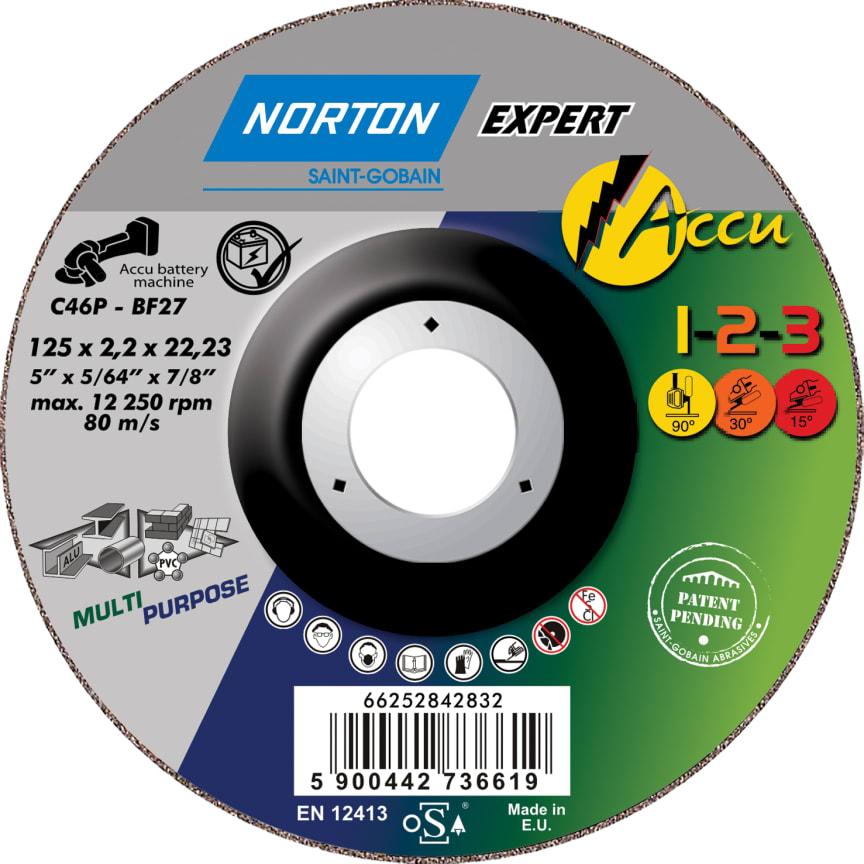 Norton Expert Accu 1-2-3 kap-, slip och polerrondell