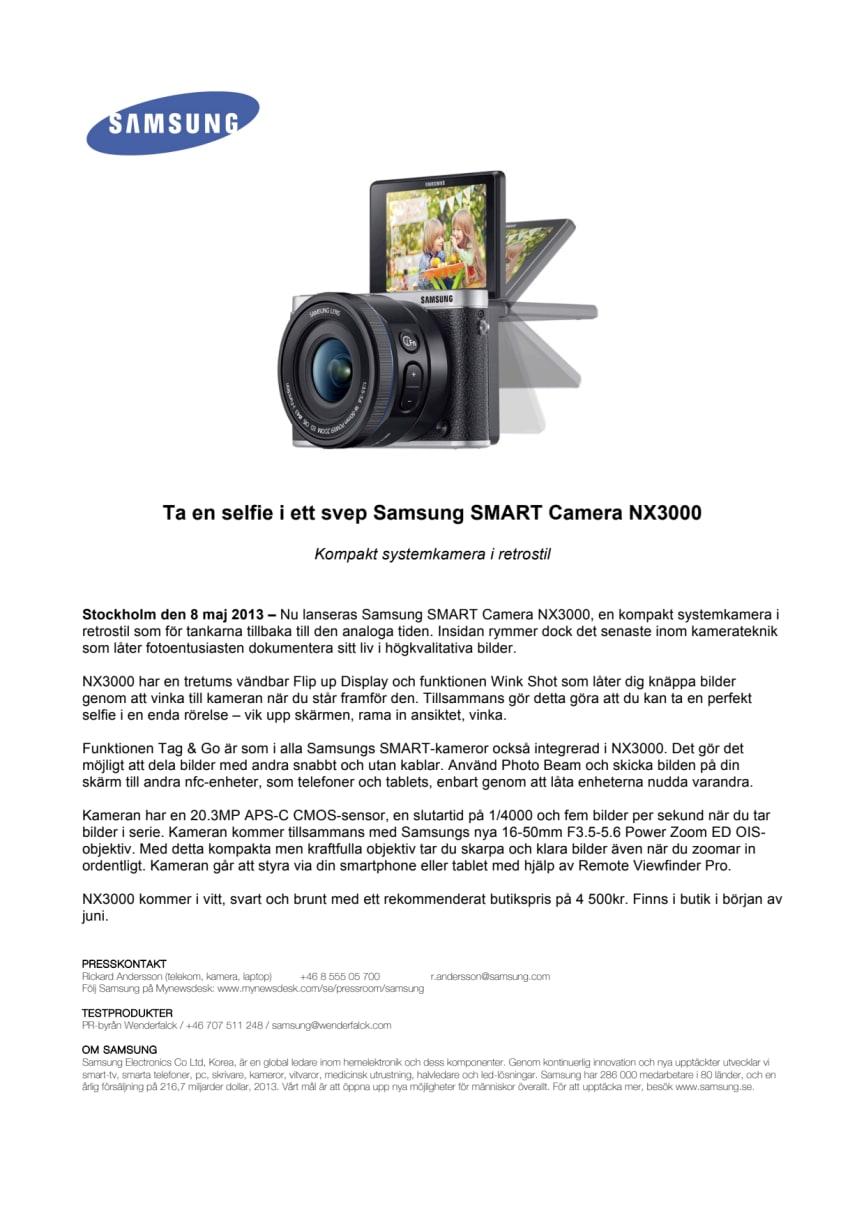 Ta en selfie i ett svep Samsung SMART Camera NX3000