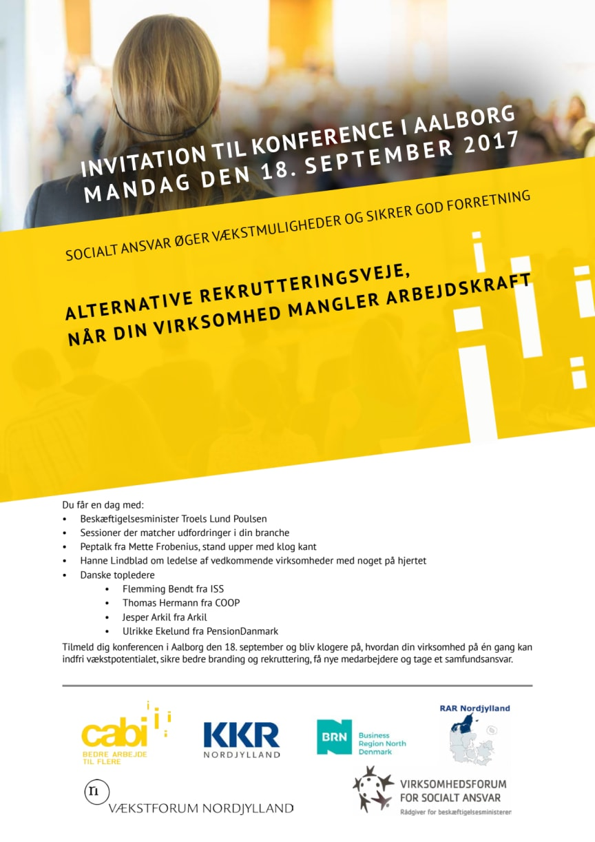 Konference: Alternative rekrutteringsveje, når din virksomhed mangler arbejdskraft