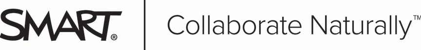 SMART Board Collaborate Naturally svart logo