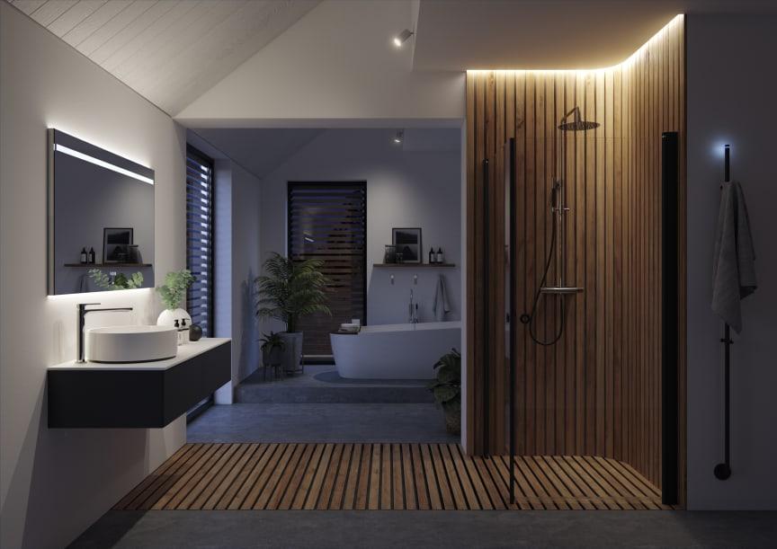 INR Black Edition - det sinnliga badrummet kväll