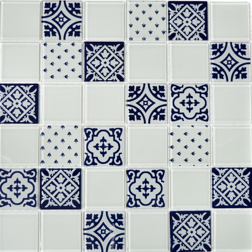Mosaik Eventyr Kejserens Nye Klæder Hvid 30x30, 548 kr. M2.