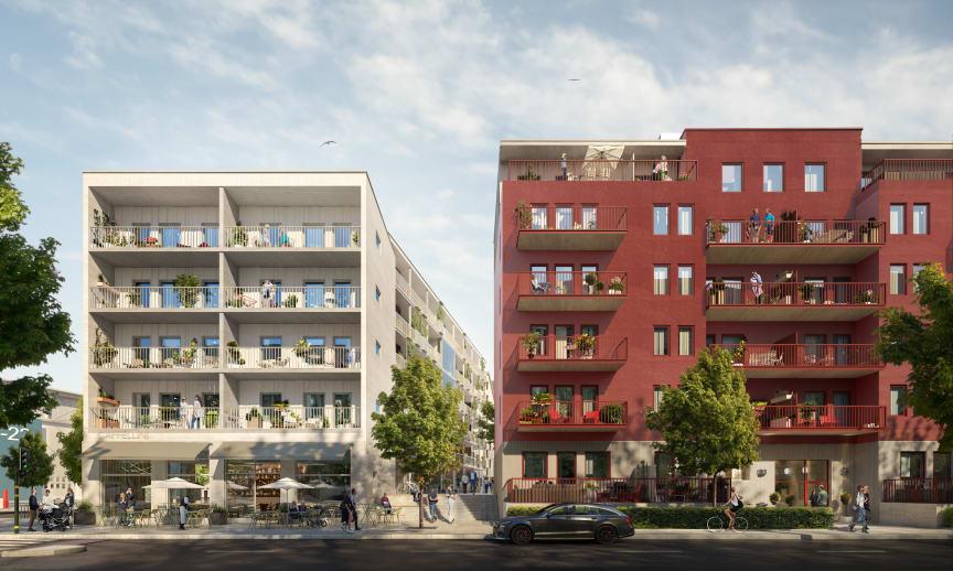 BRABOs projekt Barkarby SIX med 164 hyresrätter i Barkarby, Järfälla