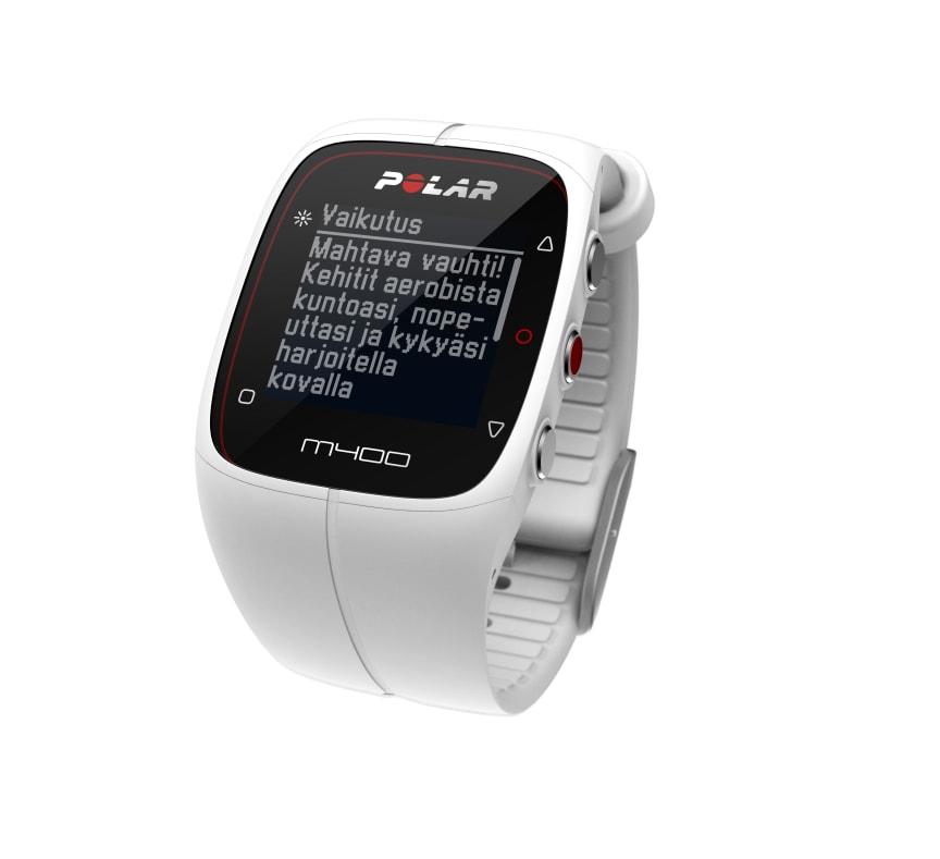 Polar M400 harjoituksen vaikutus