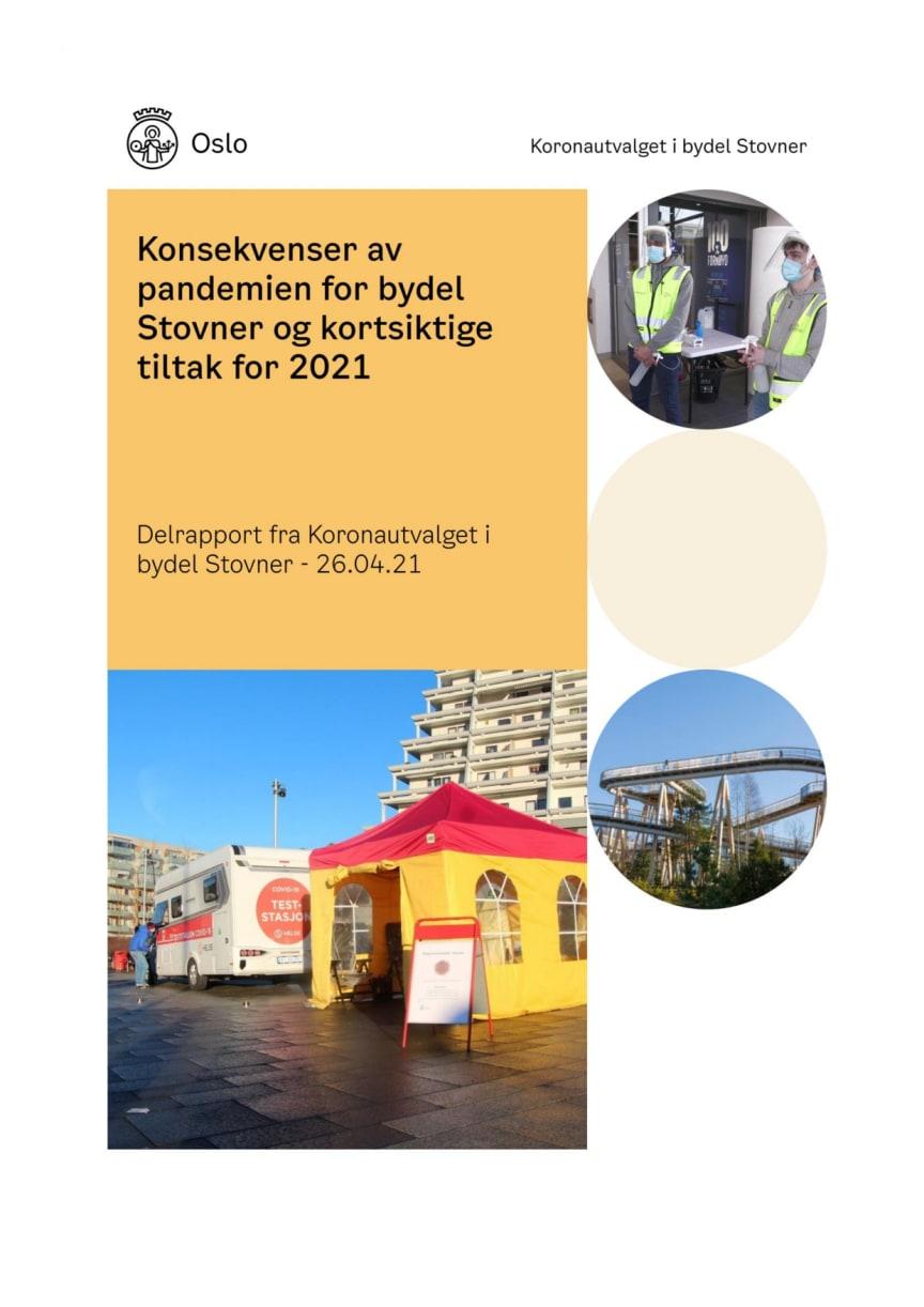 Koronautvalget i Bydel Stovner - delrapport om barn og unge, april 2021