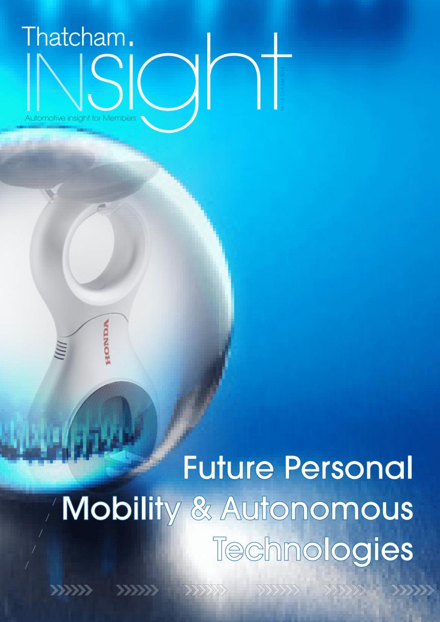 Future Personal Mobility & Autonomous Technologies